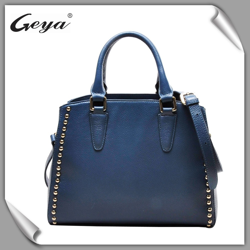 Import goods form China wholesale genuine leather women handbags