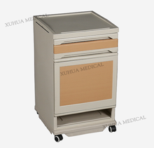Chinese ABS luxury plastic hospital bedside table with wheels XHFS-7
