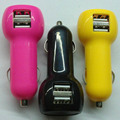 Car cigarette powered 5v 2.1a dual usb car phone charger
