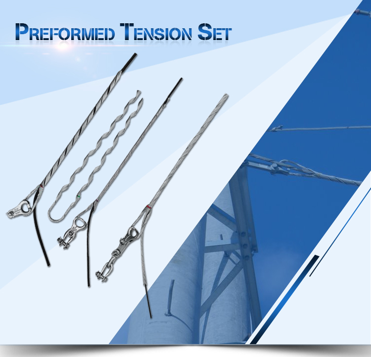 Preformed tension clamp