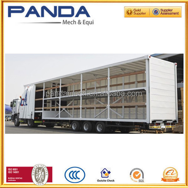2016 Van type curtain side truck trailers for fruit juice transportation trailer sale