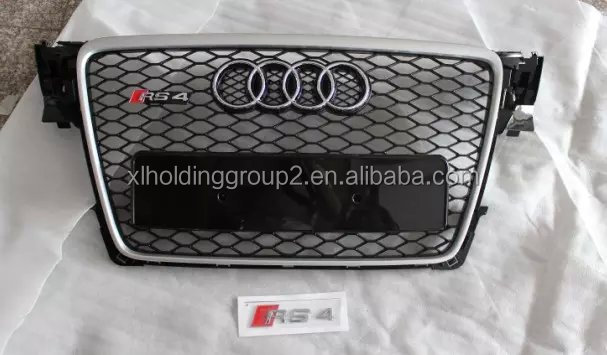 Grille Gloss Black for 09-12 B8 Audi A4 S4 Rs4 Style