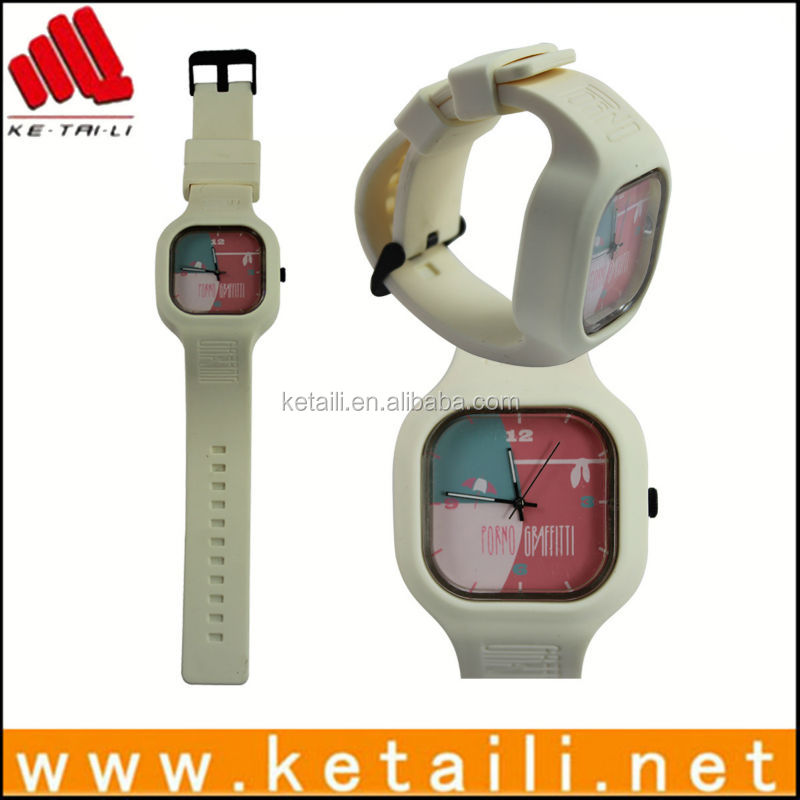 Good quality customized design silicone rubber quartz wrist watch with LOW MOQ & DROP SHIPPING SERVICE