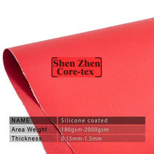 0.8mm fireproof double sides silicone fiberglass cloth fire blankets