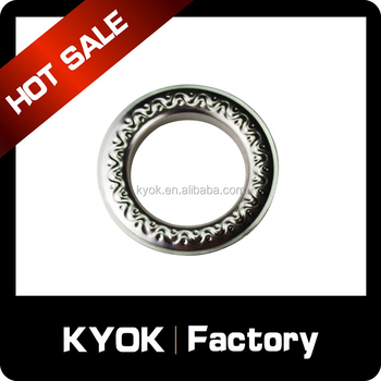 2017 new mental curtain eyelets, fancy curtain eyelet,iron curtain eyelet