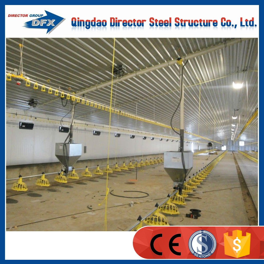 Fast assemble prefabricated steel structure chicken poultry breeding house