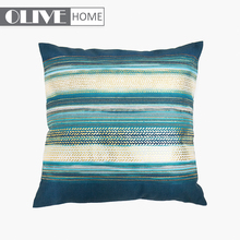 Fashion Design Lazies Gold Stamping Ombre Striped Printing Cushion Pillow