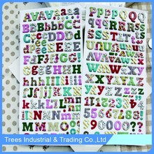 Brand new 3D English alphabet crystal sticker