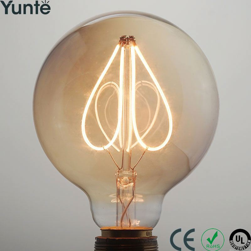 2017 incandescent light bulb 40w g125-29 edison lamp 19 anchors squirrel cage filament g125 for hotel bar restaurant dining room
