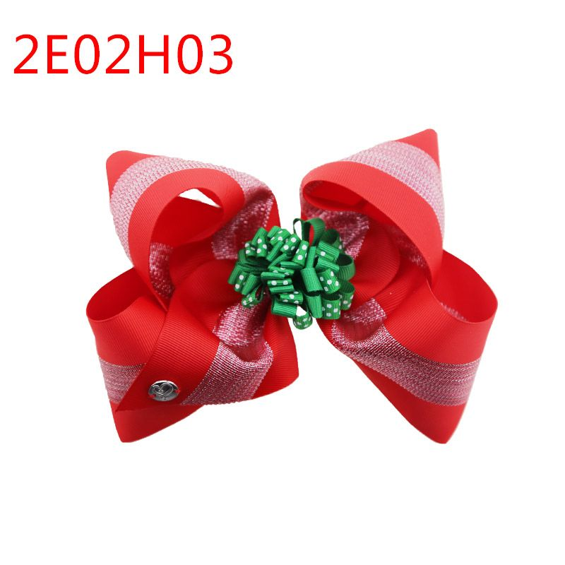 Maya new design sweet girls Christmas gift double hair bow 8inch with 7.5cm alligator clip fashion hair bow clip