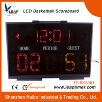 high quality basketball scoreboard with clock/ wireless clock