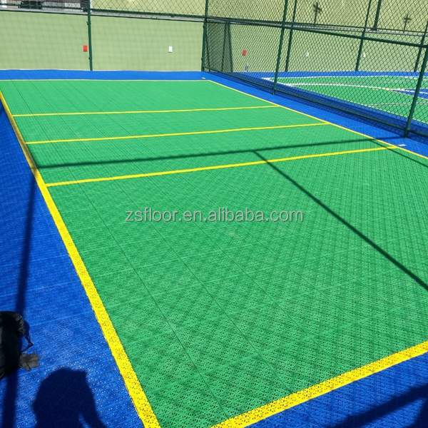 Rubber floor tile safety volleyball court surfacing