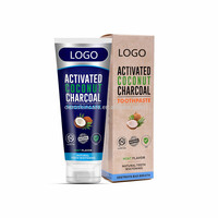 Private Label Organic Activated Charcoal Teeth Whitening Toothpaste with Coconut