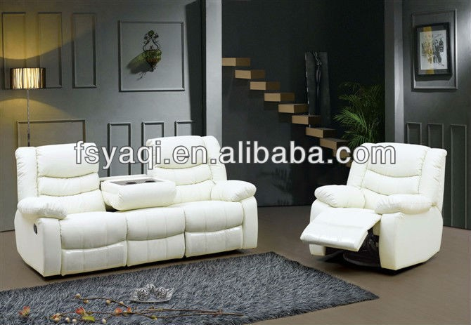 VIP reclining sofa set with cup storage electric leather sofa recliner