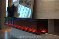 2 sided fireplaces electric with led lights