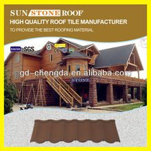 Heat Resistance Roman Sand Coating Steel Roof / Shingle Build Roofing Materials