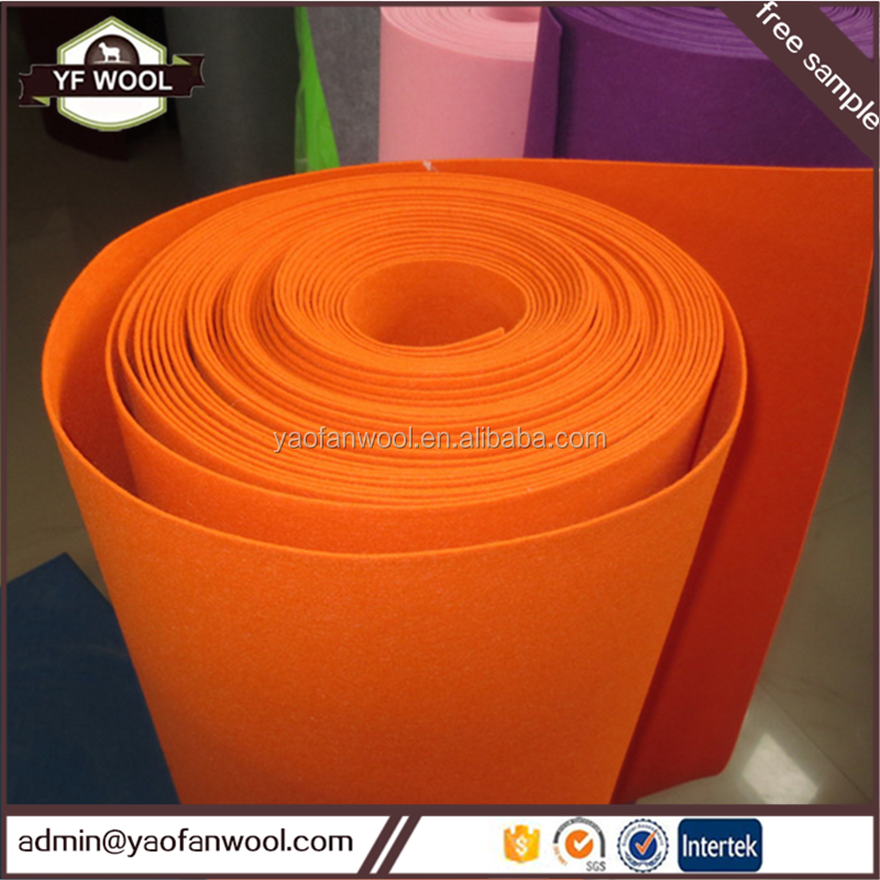 Hot selling 10mm thick wool colorful felt paper mill used press felt 100% polyester