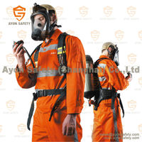 SCBA air management Fire fighting emergency personal breathing apparatus with carbon fiber gas cylinders