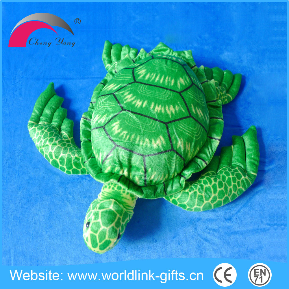 Custom sea animal turtle toy stuffed green sea turtle plush toy