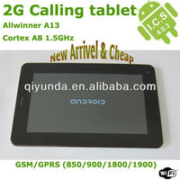 China tablet mid gsm phone 7inch 800*480 4GB tablet andriod pc with SD card slot usb direct Manufacturers and Exporters