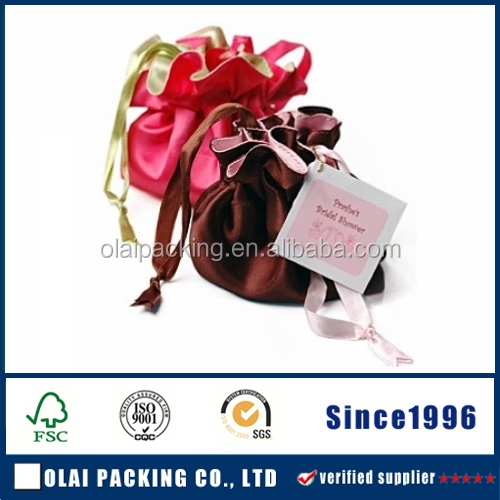 Oct new Jewelry String Pouch satin gift bags luxury