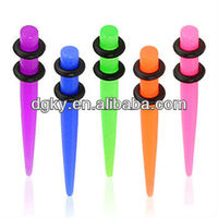 Magnetic UV Acrylic Fake Ear Taper Colorful Taper Piercing