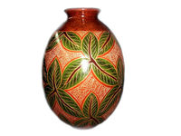 Vase Design with Leaves