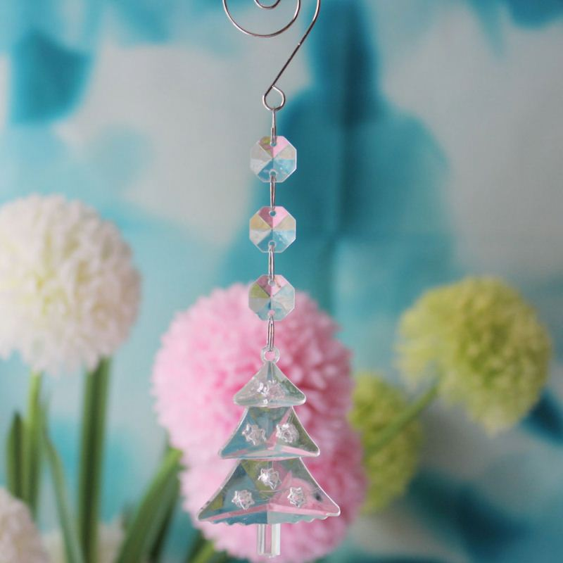 How to 18CM Clear Transparent Acrylic Crystal X'MTS TreeWedding Tree Bead Prism Chains Saler