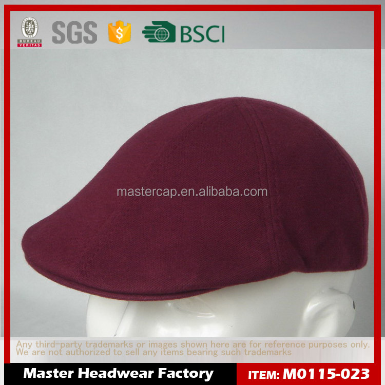 Fashion newsboy Ivy hat caps for men with 3D Embroidery