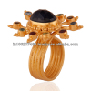 Corundum Blue Sapphire Sterling Silver Gemstone Cocktail Ring 24k Gold Vermeil Jewelry Manufacturer And Supplier