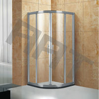 Sector 4 side 6-8mm tempered glass shower room TA-412