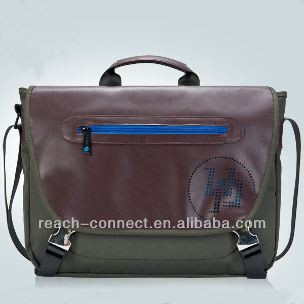 floding leather tote bags with good service men leather briefcase