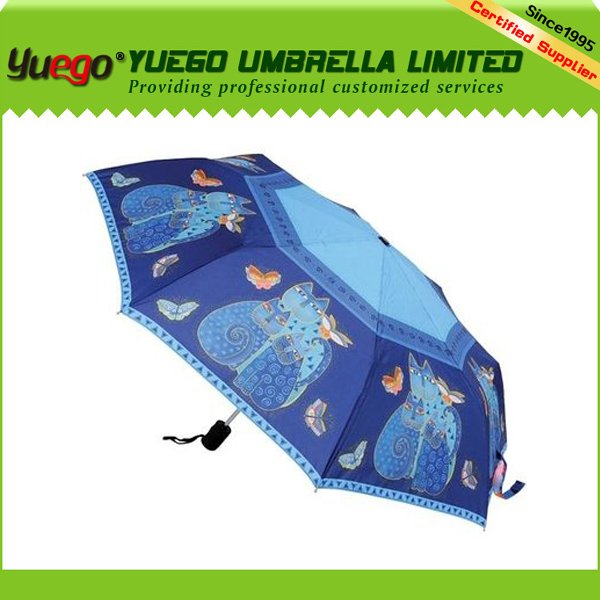 Dubai abaya logo printing three fold rain perrier umbrella