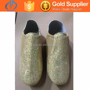 Slip on jazz shoes jazz dance shoes in tan color