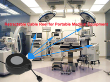 power cord retractor used in hospital,retractable cable reel for medical equipment