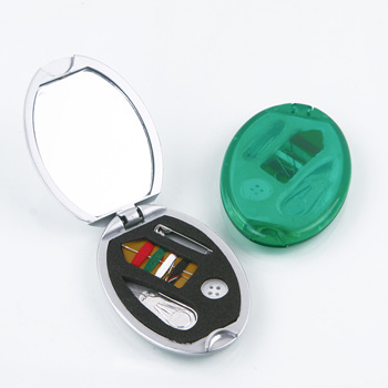 Oval plastic hotel sewing kit