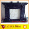 black fireplace mantel,marble fireplace