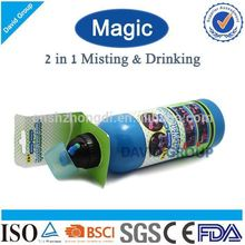 Creative Magic 2 in 1 Misting&Drinking FDA BPA Free Protein Shake Blender Joyshaker Bottle