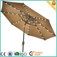 aluminium patio umbrella with led light for garden umbrella and beach umbrella