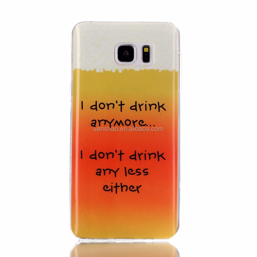 New Products 2016 UV printing custom design soft tpu+pu cell phone case for samsung note5 case OEM/ODM wholesale