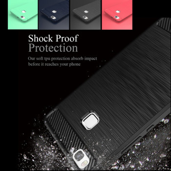 New Premium Cellphone Case TPU Brush For Huawei P9 Lite Carbon Fiber Pattern Case Cover