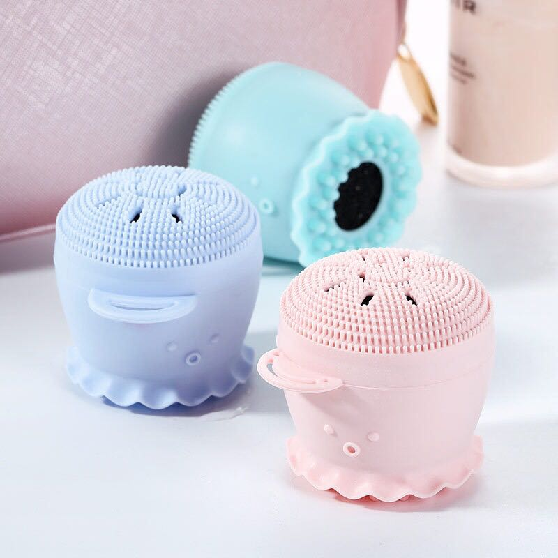 Hot sales octopus soft silicone facial cleansing brush for girls - KingCare.net