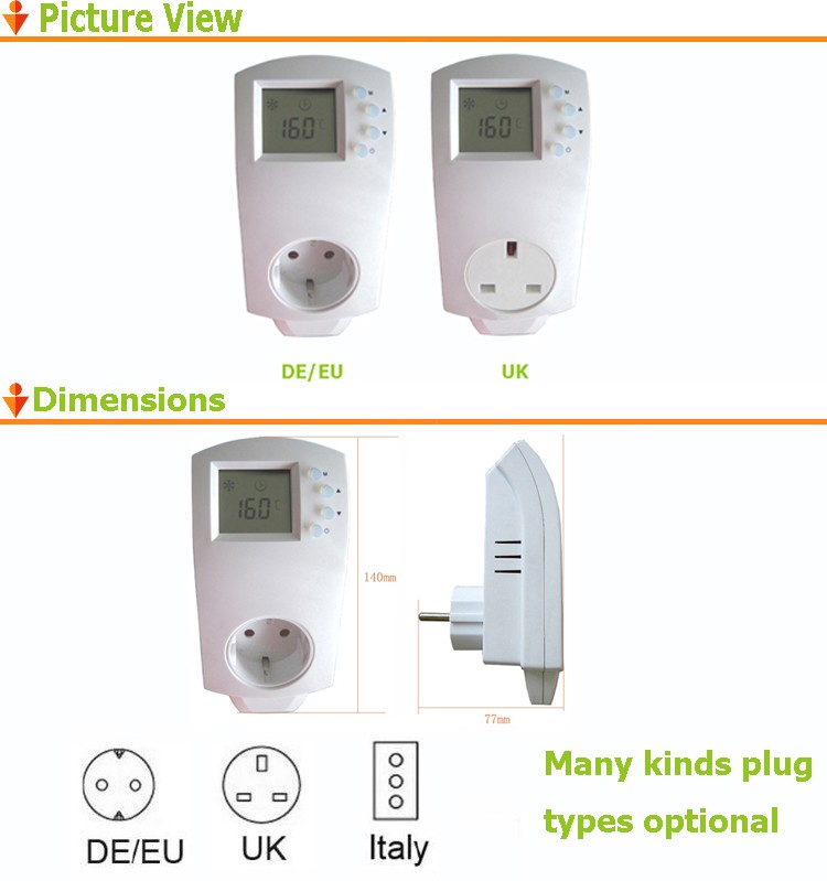 Simple Underfloor Heating Italy Plug In Thermostat
