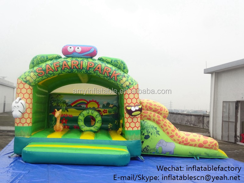 PK High Quality Party Rental Inflatable Small Bouncy Castle Slide