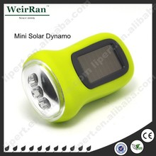 (1500070) Cheap Colorful ABS 3 LED Handheld Cranking Rohs Solar Charger Flashlight