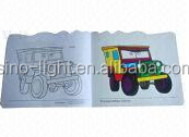 Children Activity Cheap Pantone Color Saddle Stitch Drawing Book Coated Paper 4C/1C Painting Book Softcover Printing Book