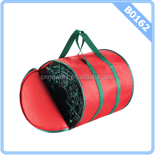 Premium Christmas Light Storage Bag and Reels Holds Two 100 ft. Strands