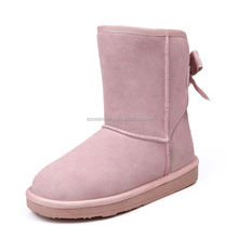 2012 european style ankle snow boot with riband