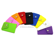 New Design Silicone Phone Wallet With Button Pocket and Holder