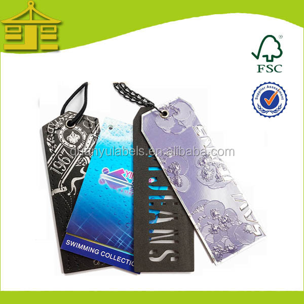 China Products Labels/jeans Paper Hang Tag/ Embossed Paper Hangtags Manufacturer